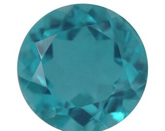 Capri Blue Quartz Triplet Loose Gemstone Round Cut 1A Quality 12mm TGW 6.10 cts.