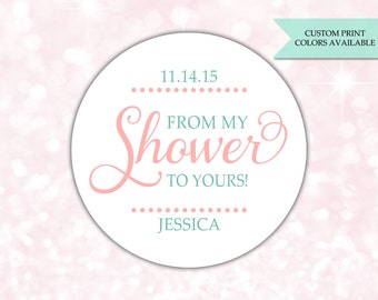 From my shower to yours stickers - Soap labels - Baby shower soap favors - Bridal shower soap favors (RW012)