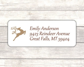 Holiday return address labels (30) - Christmas return address labels - Adress labels - Address stickers - Deer address labels (CH011)
