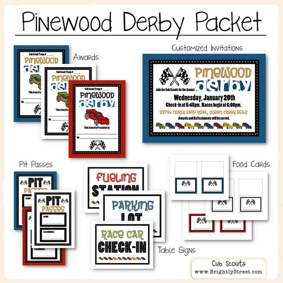 Cub Scouts Pinewood Derby Packet