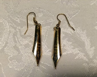Engraved Fountain Pen Tip Earrings