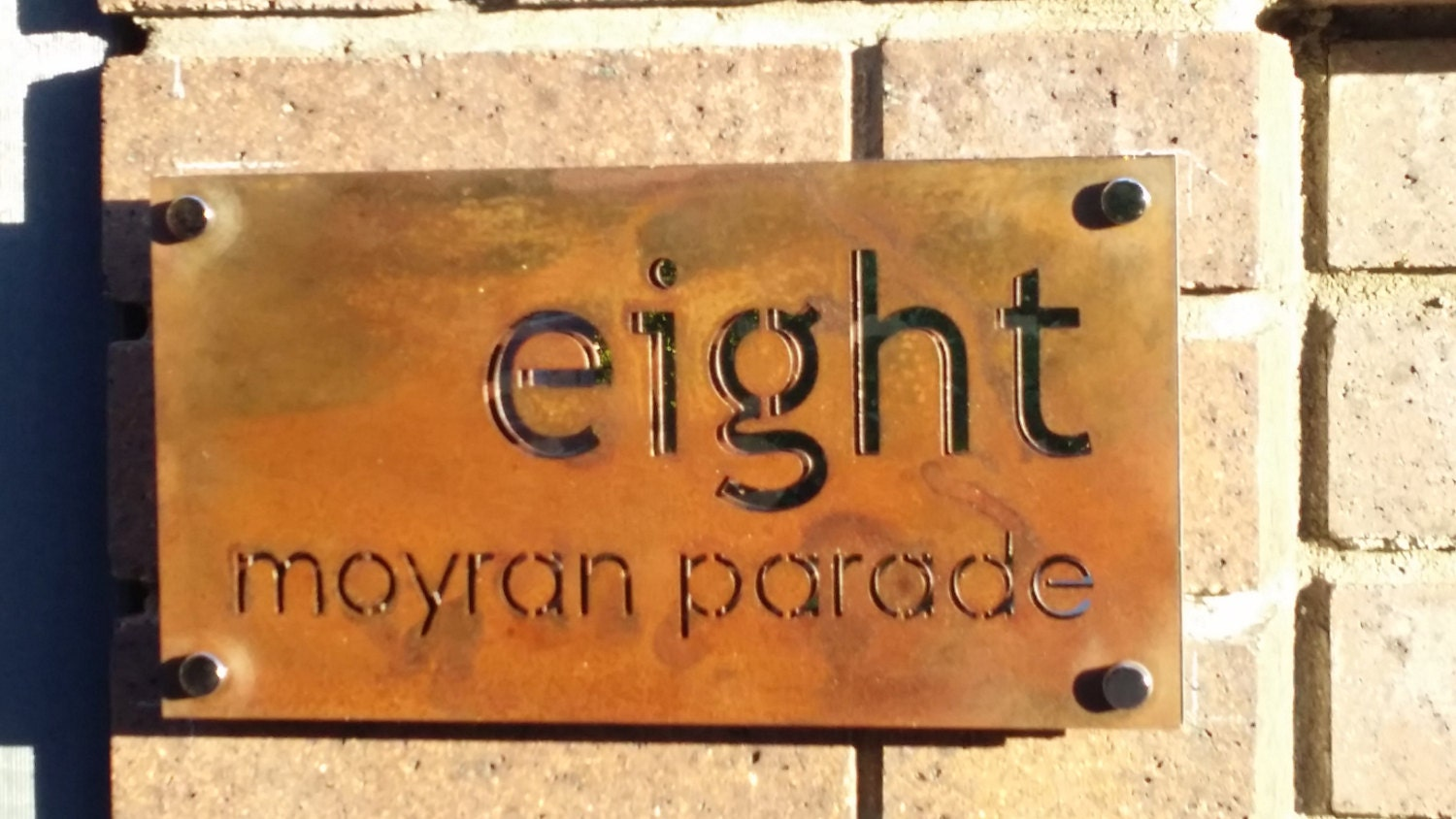 Corten Rusted Steel Custom Made Laser Cut House Signs Made