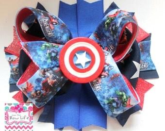 Captain America- Avengers Boutique Bow
