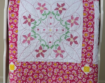 PInk Daisies Quilt