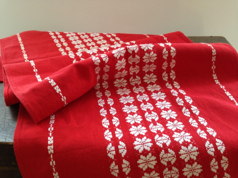 swedish woven red table runner red white table runner woven. Black Bedroom Furniture Sets. Home Design Ideas