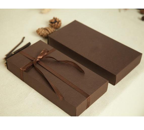 set 15 dark brown kraft boxes long rectangle cardboard box. Black Bedroom Furniture Sets. Home Design Ideas