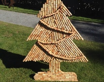 Wine cork tree, wine cork craft, christmas craft, wine celler decor