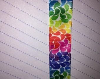 "7/8"" Grosgrain Ribbon - 3 yard Rainbow"
