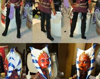 Star Wars Clone Wars Ahsoka Tano Inspired Custom Monster High doll