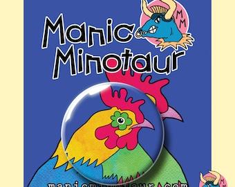Funky Chicken Pocket Mirror. Chicken Hand Mirror. Bird Mirror. Fun Mirror. Handbag Mirror. Kids Gift. Childrens Gift. Gifts For Girls.