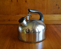 Vintage Revere Ware Tea Kettle made in Rome, NY