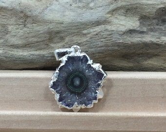 Stalactite Pendant, Amethyst Stalactite Pendant, Silver Plated, Only One of Each Piece Available, Small Size, Great Quality, PS3803C