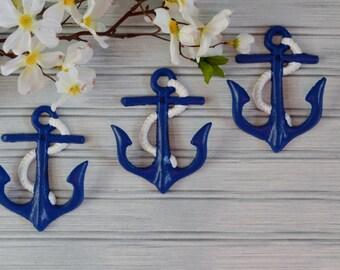 Set of Three Anchor Hooks. Anchor Hook. Anchor Wall Decor. Beach Decor. Nautical Decor. Coastal Decor. Wall Decor. Metal Decor. Anchor Art