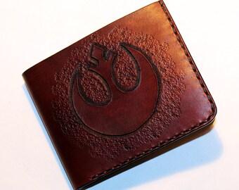 Star Wars Wallet, Wallet With Rebel Alliance Sybol, Handmade Wallet, Leather Wallet, Star Wars, Credit Card Wallet,Great Gift!
