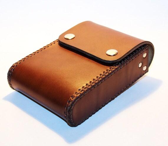 belt pouch leather handmade pouch brown belt purse belt