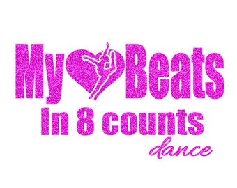 8 Counts Dance Iron On Decal