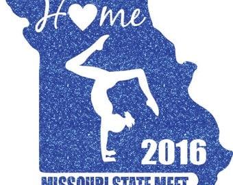 Missouri State Meet Iron on Decal