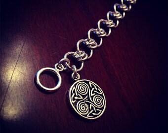 Sterling Silver Celtic Charm Bracelet