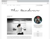 "NEW Premade Blogger Template Simple and Clean Blog Design - Interior Design Blog - Responsive Blogger Template - ""WANDERER"""