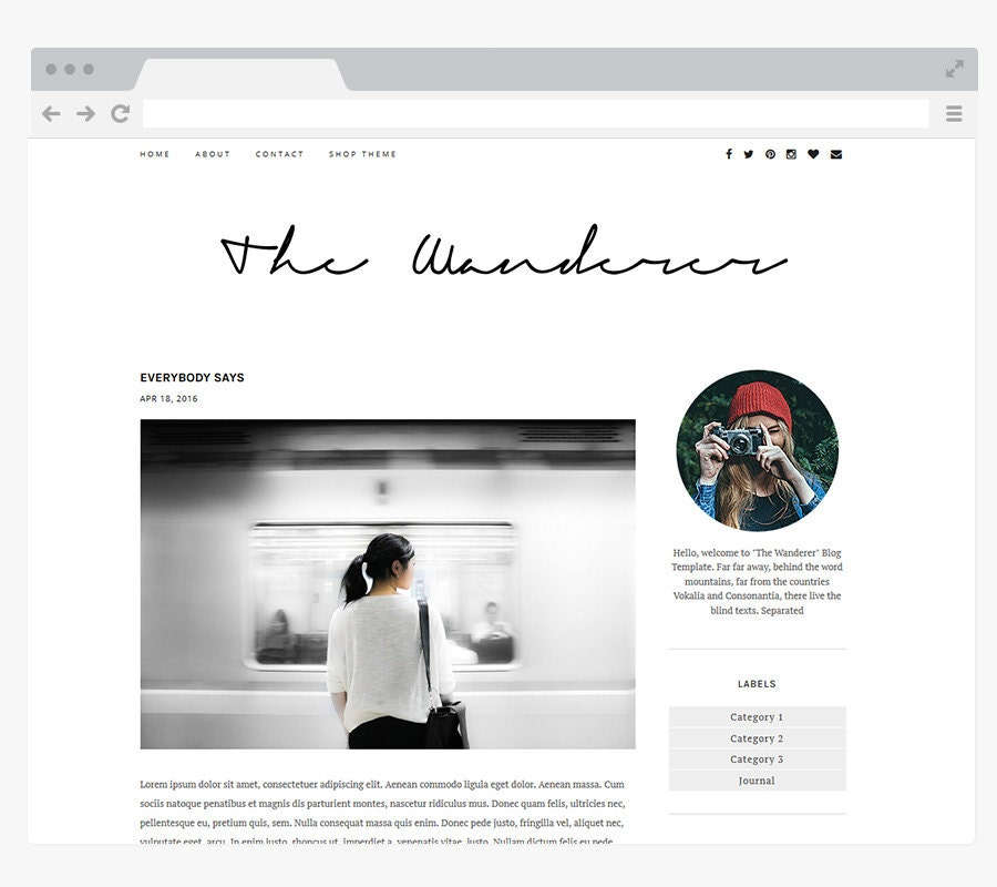 Blog: NEW Premade Blogger Template Simple And Clean Blog Design