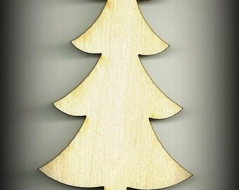 Craft, Tree, Christmas Tree Cutouts, Wood, Baby Mobile Unfinished, DIY, You Decorate, Scrap Book Items, Holiday Decorations