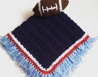 Football lovey blanket