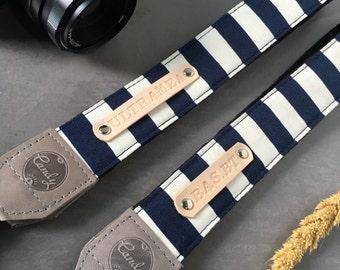 DSLR camera strap,Navy Gray  Camera Strap, leather camera Strap ,