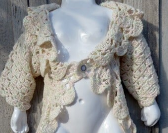 Pink and Green Flecked Woodland Fairy Sweater