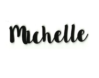 Custom Name or Word Assorted Colors Laser Cut Acrylic