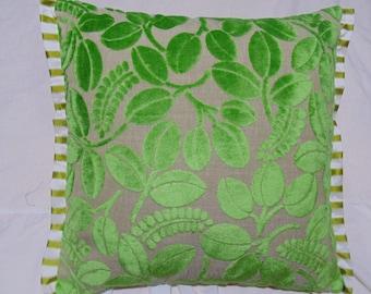Designers Guild Velvet Calaggio-Grass Cushion Cover/ Pillow
