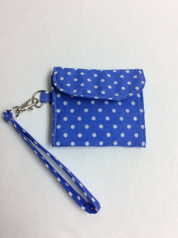 The Spots and Stripes: Blue Polka Dot Print Wallet
