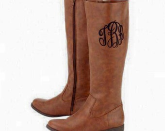 SALE!!! Monogrammed Riding Boots