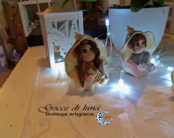 OOAK follet with Lantern (which glows in the dark)