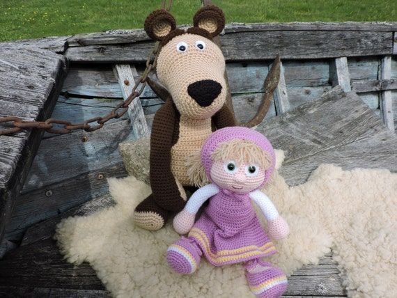 Amigurumi Doll House : Amigurumi Crochet Pattern Masha And The Bear The Russian Girl