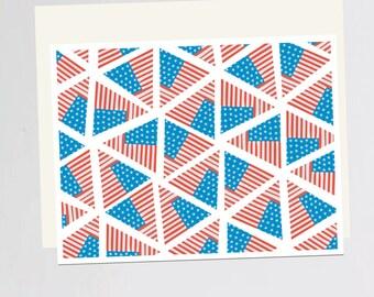 American flag print Greeting Card