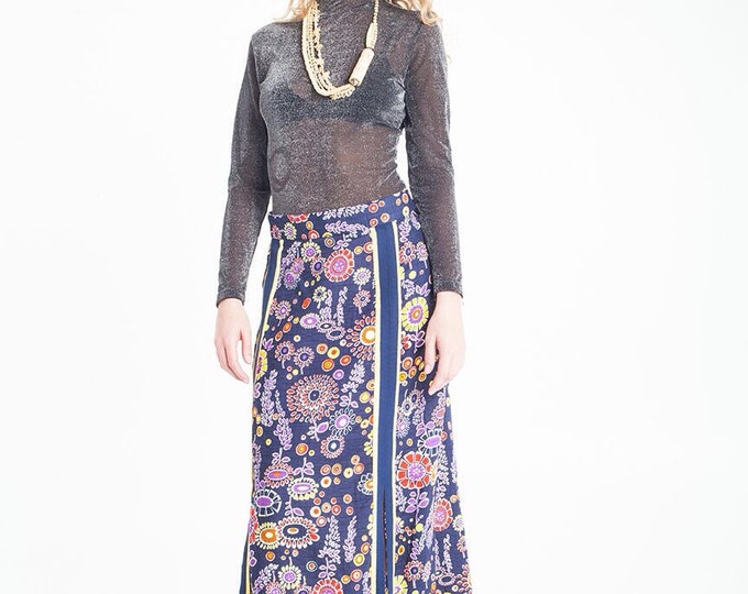 Vintage Estate Floral Maxi Skirt
