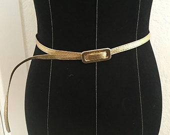Vintage Astor Brand Gold Belt