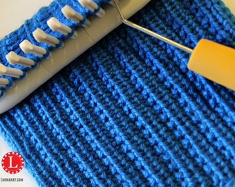 Knitting Rib Stitch For Beginners : Loom Knitting Stitch PATTERNs The Basket Weave Stitch with