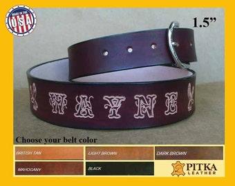 Cowboy Belts - Heavy Duty Leather Belt - Cowboy Belts for Men - Handmade Leather Belt Western Style for Women - Custom Cowboy Belts
