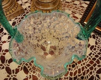 A Stunning Fenton Hob Nail Opalescent Easter Basket/Glass Basket/Glass Fenton Basket/Fine Collectible Fenton/Fenton Candy Dish/Fenton