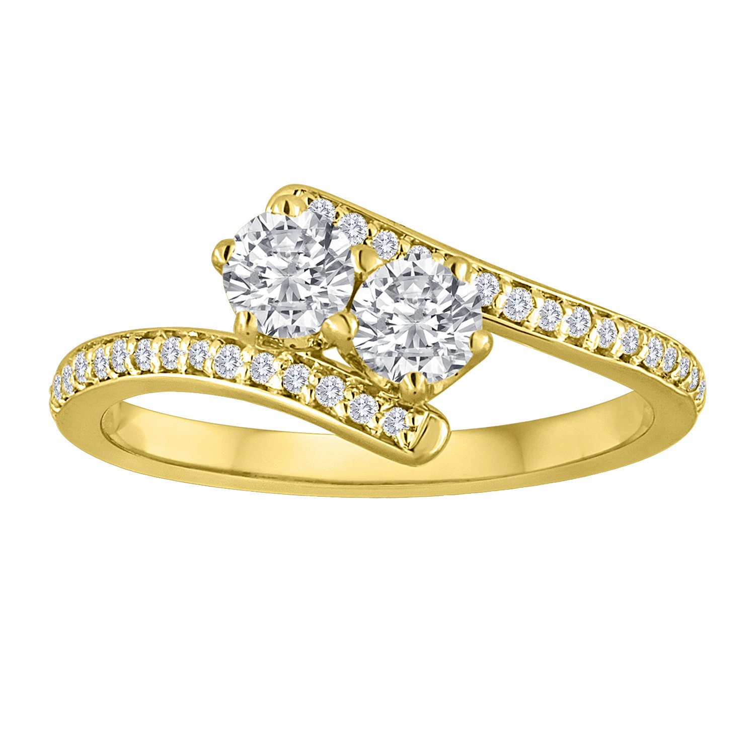 The Two Stone Engagement Anniversary Diamond Ring By