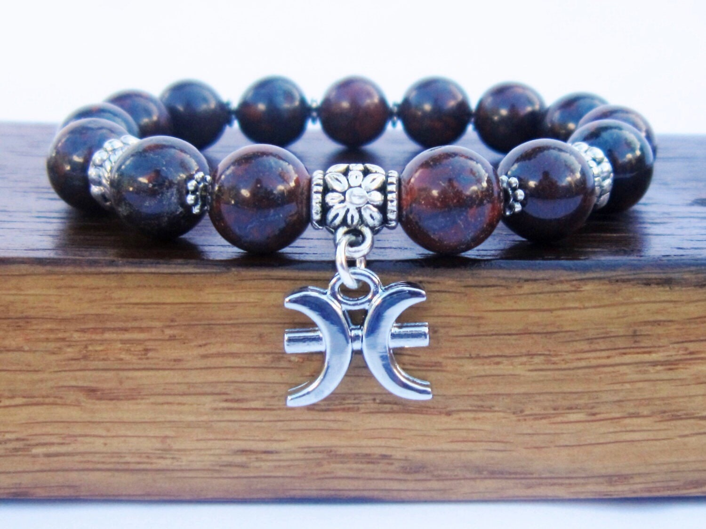 pisces bracelet pisces zodiac bracelet pisces gemstone