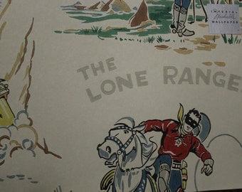 1950's Wallpaper Sample Lone Ranger NOS