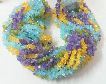 """35"""" Beautiful Multi Natural Stones chips ,Super,Very Fine Quality."""