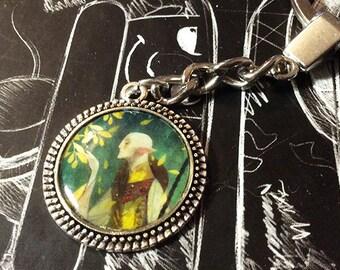 Fen'harel inspired handmade keychain