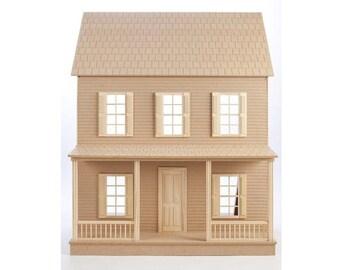 Dollhouse Kit, DIY Dollhouse, Quickbuild Imagination House Dollhouse Kit, 1-Inch Scale Unfinished Dollhouse