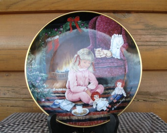 "Kaiser W. Germany Christmas Plate, "" The Christmas Dream"""