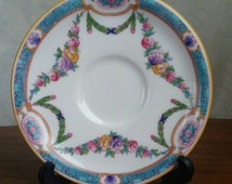 Mad Hatter tea party RARE Antique Mappin and Webb orphan saucer c. 1916
