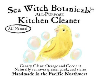Canary Clean-Handmade Vegan Dish Soap and Kitchen Cleaner- All Natural-Biodegradable