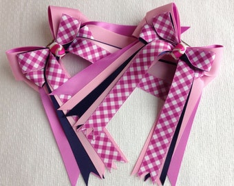Horse Show Hair Bows/ready2mail/sold in pairs/equestrian/hair accessory